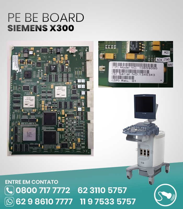 PE BE BOARD ULTRASSOM SIEMENS X300