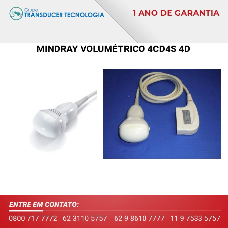 TRANSDUTOR MINDRAY CONVEXO VOLUMETRICO 4CD4S 4D