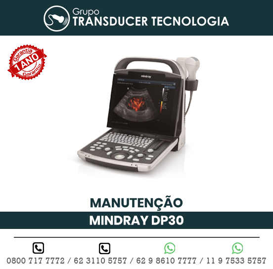 MANUTENCAO ULTRASSOM PORTATIL MINDRAY DP30