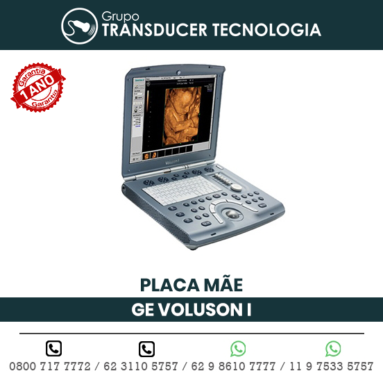 PLACA MAE ULTRASSOM PORTATIL GE VOLUSON I