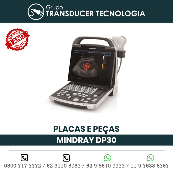 PLACAS PECAS ULTRASSOM PORTATIL MINDRAY DP30