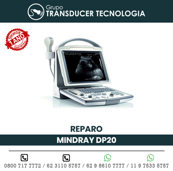 REPARO ULTRASSOM PORTATIL MINDRAY DP20
